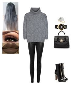 """Untitled #579"" by insafsat on Polyvore featuring rag & bone/JEAN, Yves Saint Laurent, Valentino, Versace and Allurez"