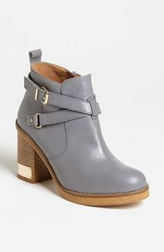 Grey buckle booties. i'm in love!