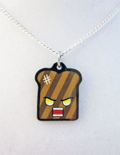 Angry Burnt Toast Necklace by egyptianruin on Etsy, $9.00