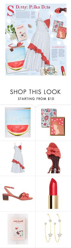"""So Dotty: Polka Dots"" by thewondersoffashion ❤ liked on Polyvore featuring Anna October, Tabitha Simmons, Urban Outfitters, PERLOTA and Rosantica"