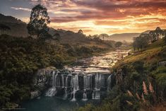 Sunrise over the Pelotas river, in the highlands of Santa Catarina, Brazil. Photo by Miguel-Santos