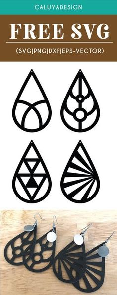 Free Leather Earring SVG, PNG, EPS & DXF by Caluya Design. Compatible with Cameo Silhouette, Cricut and other major cutting machines!Perfect for your DIY projects, Giveaway and personalized gift. Perfect for Planner customization! Diy Leather Earrings, Diy Earrings, Gold Earrings, Diy Jewelry Leather, Leather Diy Crafts, Star Earrings, Diy Schmuck, Schmuck Design, Clipart
