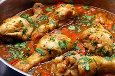 Confort Food, Paella, Chicken Wings, Shrimp, Good Food, Food And Drink, Healthy Recipes, Meat, Ethnic Recipes