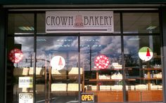 Get your favorite baked goods at Crown Bakery like haupia cake, creme puffs with pudding, hot doughnuts, awesome fruit cake and more.