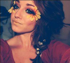 Flower eyes...crazy but pretty!
