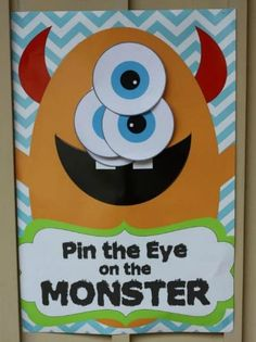 20 Halloween Games for Kids pin the eye on the monster Halloween Tags, Halloween Activities For Kids, Halloween Party Games, Halloween Birthday, Halloween Crafts, Youth Activities, Monster Party, Monster Inc Birthday, Monster Games For Kids