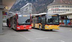 Post Bus, Chur, Coaches, Long Distance, Mercedes Benz, Autos, Swiss Guard, Trainers, Distance