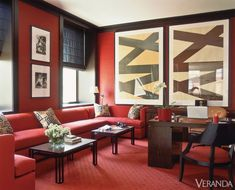 The Archives: Red in Veranda - Red decor inspiration Interior Design Studio, Luxury Interior Design, Interior Architecture, Interior Decorating, Decorating Ideas, Red Rooms, Red Walls, Luxury Living, Modern Living