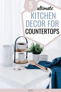 My apartment decorating project is now on and my next area would be the kitchen. My space is not that big so I need to make sure that whatever kitchen decor for countertop I'm getting is functional + pretty lol. I'm so lucky to spot this genius post that listed 5 things that I need. Another bonus are the links to get the decors. I was able to order my first set of jars! Cute Apartment, Apartment Cleaning, Bathroom Cleaning Hacks, House Cleaning Tips, First Apartment Checklist, First Apartment Essentials, Apartment Decorating On A Budget, 5 Things, Organization Hacks