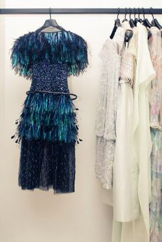 feathers and sequins