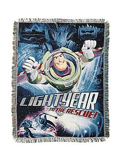 Sweet dreams, Spaceman // Disney Toy Story Buzz Lightyear Woven Tapestry Throw Blanket