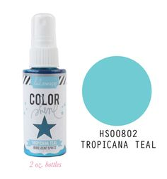 Heidi Swapp - Color Shine Iridescent Spritz - 2 Ounce Bottle - Tropicana Teal at Scrapbook.com 5.99