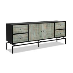 Shop for Artefama Pollo Distressed Blue Reclaimed Wood Buffet. Get free delivery…