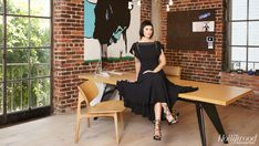 The Silicon Beach power player is right at home in the downtown Los Angeles offices of her online clothing company.