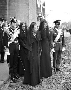 scanpix:  Funeral of King Frederik IX of Denmark-King Constantine and Queen Anne-Marie of Greece, Queen Ingrid, Queen Margrethe, Prince Henrik, January 24, 1972