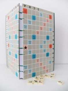 Scrabble journal - Handmade