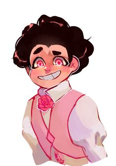 Steven looks sooooo cute in that outfit! The son of pink diamond, Steven Universe! Perla Steven Universe, Pink Diamond Steven Universe, Steven Universe Movie, Universe Art, Steven Universe Stevonnie, Rose Quartz Steven Universe, Steven Univese, Nickelodeon, Lapidot