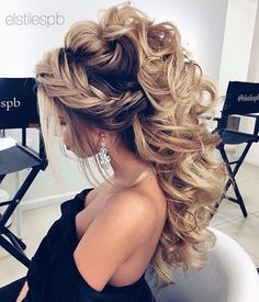 Beautiful crown braid and half up wedding hairstyle Ideas,wedding hairstyles ,bridal hair ,hair ideas