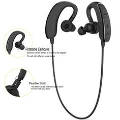 Special Offers - Bluetooth Headphones allimity; Wireless Bluetooth Stereo Headset Noise Cancelling Sports Outdoor Headphones with Mic for iPhone iPad iPod Samsung Sony HTC Most Android and Window Phones (Black) - In stock & Free Shipping. You can save more money! Check It (April 27 2016 at 05:54PM) >> http://ift.tt/1pEFx4c