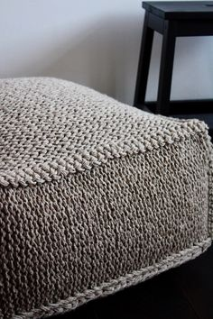 Handmade Organic Wool Warm Ottoman It Is Perfect