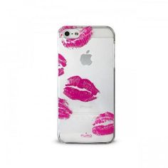 CUSTODIA PURO BACI PER APPLE iPHONE 5/5S CRYSTAL ROSA FLUO *ET*