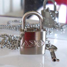 """""""Jewelry Box Fav ❤️ Delta Sigma Theta  Lock & Key Necklace S U P E R  S A L E"""""""