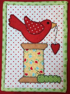 This Spoolie Bird Mug Rug measures 5.5″ by 7″and features your favorite birdie, Spoolie Bird! This mug rug is sure to add cheer and whimsy to your home or office. It is also a quick, easy gift to make for a very special person in your life!  This kit includes pre-fused, laser cut applique pieces, background fabric, backing fabric, binding fabric, and buttons! You will receive the printed pattern along with all applique pieces needed for this Spoolie Bird Mug Rug. The applique pieces are…