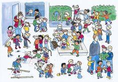 Op het schoolplein
