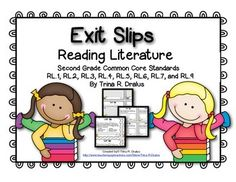 Exit Tickets (or exit slips) are a great way to check for understanding! Formative and Summative assessment has never been easier! This pack has all Reading Literature standards! Each standard can be assessed from 4-11 different ways. These exit slips make formative assessment easy because of the following features - * They provide a quick and easy check of student understanding * There are 4 slips per page; it allows for work space while conserving paper/copies* The information a teacher…