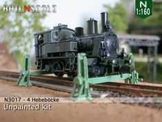 4 Hebeböcke mit 2 Träger (N (WQCRLFWAZ) by railNscale on Shapeways. Learn more before you buy, or discover other cool products in Scenery. N Scale Model Trains, Scale Models, Carrera Slot Cars, Modeling Techniques, Military Vehicles, Scenery, Digital, Norway, Miniatures