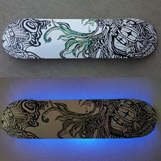 """Limited Edition Printed Skateboard Deck8""""x32.5"""" Comes with our without a light optionMade from original Skateboard with Posca pens.  Original is SoldEdition size: 30Each board is signed dated and numbered by me. Contact me for shipping rates outside the U.S.Please allow 10-12 business days for shippingpurchase does not transfer copyrights©NicoleBishopp"""