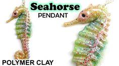 Polymer Clay Seahorse Pendant Tutorial || Maive Ferrando