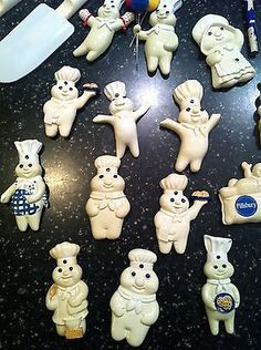 pillsbury doughboy large lot kitchen magnets cookie cutters pens and pencils ebay - Pillsbury Dough Boy Halloween Cookies
