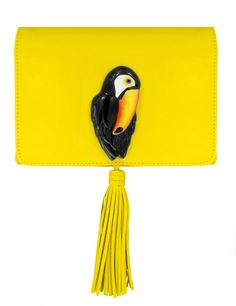 Yellow Clutch Bag with toucan in porcelain Yellow Clutch, Yellow Handbag, Toucan, Yellow Purses, Bags Online Shopping, Animal Heads, Mellow Yellow, Bag Sale, Clutch Bag