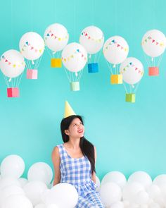 Hanging Hot Air Balloons | Oh Happy Day!