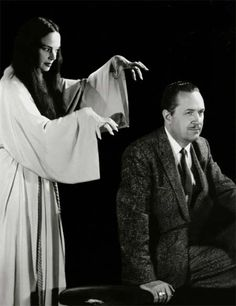 Carroll Borland and Forrest J Ackerman