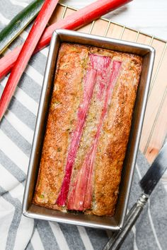 It takes only 10 minutes to get Easy Rhubarb Zucchini Bread in the oven. This sweet recipe has a perfect hint of tartness and is every bit as moist as it looks. 90 Second Keto Bread, Best Keto Bread, Low Carb Bread, Quick Bread, Rhubarb Zucchini Bread, Zucchini Bread Recipes, Blueberry Bread, Loaf Recipes, Amish Recipes