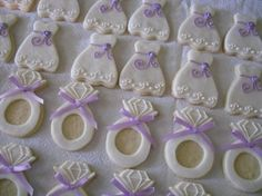 Lilac Bridal Shower Cookies - Sugary Sweet Things