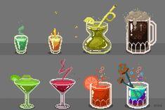 pixel art drinks
