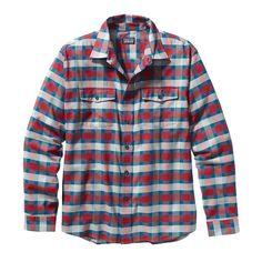 Patagonia Men\'s Long-Sleeved Buckshot Shirt - Potter: Classic Red PTCR