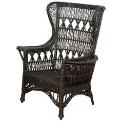 Shop wingback chairs and other antique and modern chairs and seating from the world's best furniture dealers. Oriental Furniture, Antique Furniture, Furniture Decor, Old Wicker, Woven Chair, Wing Chair, Modern Chairs, Rattan, Cane Chairs