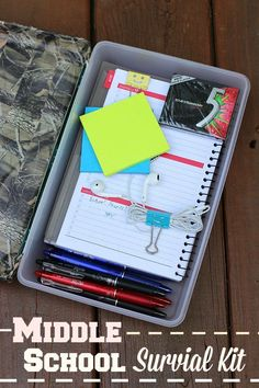 Teach some important back to school lessons with an easy to make Middle School survival kit! #EraseStress #ad