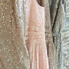 Let your bridesmaids sparkle with sequins and metallic lace!