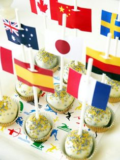 Flag Cake Pops Great for World Cup Party!