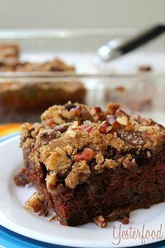 Chocolate Pecan Zucchini Cake