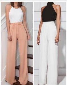 Palazzo Pants Outfit For Work. 14 Budget Palazzo Pant Outfits for Work You Should Try. Palazzo pants for fall casual and boho print. Mode Outfits, Office Outfits, Fashion Outfits, Womens Fashion, Classy Outfits, Casual Outfits, Outfit Elegantes, Office Looks, Work Fashion