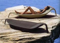Splash into summer with this amazing chaise lounge Pool Lounge Chairs, Outdoor Lounge, Outdoor Seating, Outdoor Spaces, Beach Furniture, Garden Furniture, Outdoor Furniture, Decks, Pool Bed