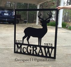 How does your deer camp look? Need to have your family name displayed? Eat date? Fish? Duck? Buck? Turkey? Hunting? Fishing? No prob!  Wholesale door hangers, yard sign, garden flags, custom cameo silhouette, wood cutouts, shapes, letters, names and monograms!  Waterproof, rustproof, metal ACM available in 8 colors! Please Do not remove our copyright or copy our designs. We work hard to keep customers stocked with new stuff! #ccspec ccspec11@gmail.co