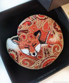 Fox Jewelry, Sewing Crafts, Jewelery, Handmade Jewelry, Bird, Embroidery, Creative, Fabric, Bracelets