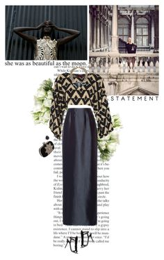 """""""Untitled #2631"""" by helena99 ❤ liked on Polyvore featuring LSA International, Boohoo, Oscar de la Renta, Dsquared2, Alexander McQueen, Christina Debs, maxiskirt, geometric and cluch"""